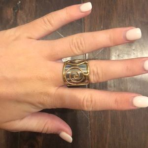 Accessories - Silver and gold ring